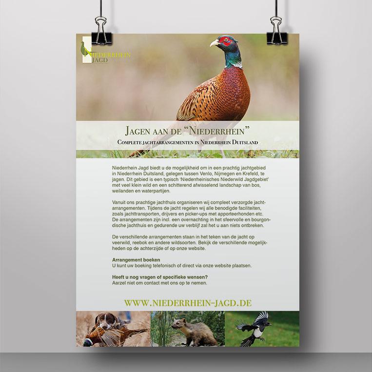 Voorkant flyer Niederrhein Jagd